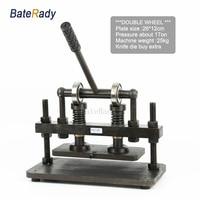 26x12cm Double Wheel Hand leather cutting machine,BateRady photo paper,PVC/EVA sheet mold cutter,leather Die cutting machine