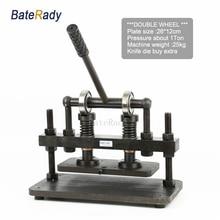 26×12 см двойное колесо ручной кожи резки, BateRady фотобумага, ПВХ/EVA листовая пресс-форма резак, кожа высечки