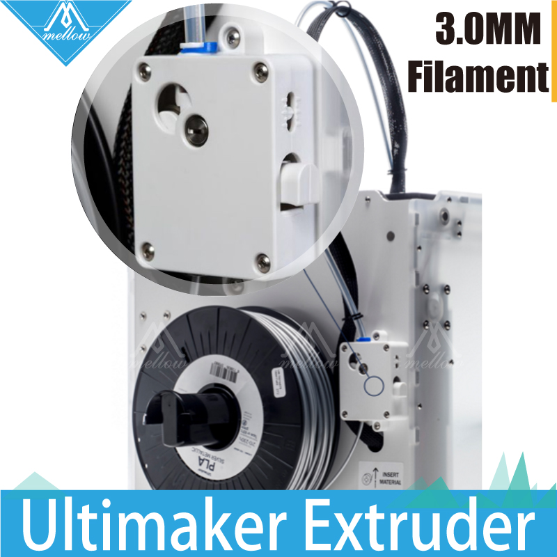 3D Printer Parts upgrade Ultimaker 2 + Extended extruder suite feeder um2 extrusion set fit for 3mm filament olsson block kit upgrade parts hanging battery haeundae and extended mounting plate