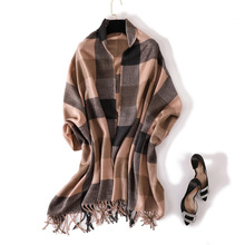 2018 New cashmere scarf women winter thicken warm shawl wrap high quality soft tassels pashmina echarpe femme capes plaid scarf