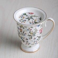 300 ml Mode bone china tasse wasser teetasse floral keramik bechermilchschale die königliche kaffee tasse exquisite geschenk
