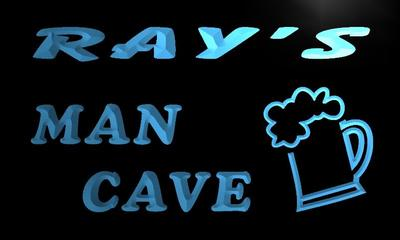 x0132-tm Rays Man Cave Beer Mug Bar Custom Personalized Name Neon Sign Wholesale Dropshipping On/Off Switch 7 Colors DHL
