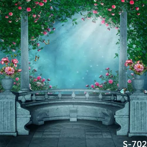Fantasy Balcony Natural Scenic Photography Background For Children Photos Vinyl Backdrops Muslin Digital Backgrounds Cloth Spray
