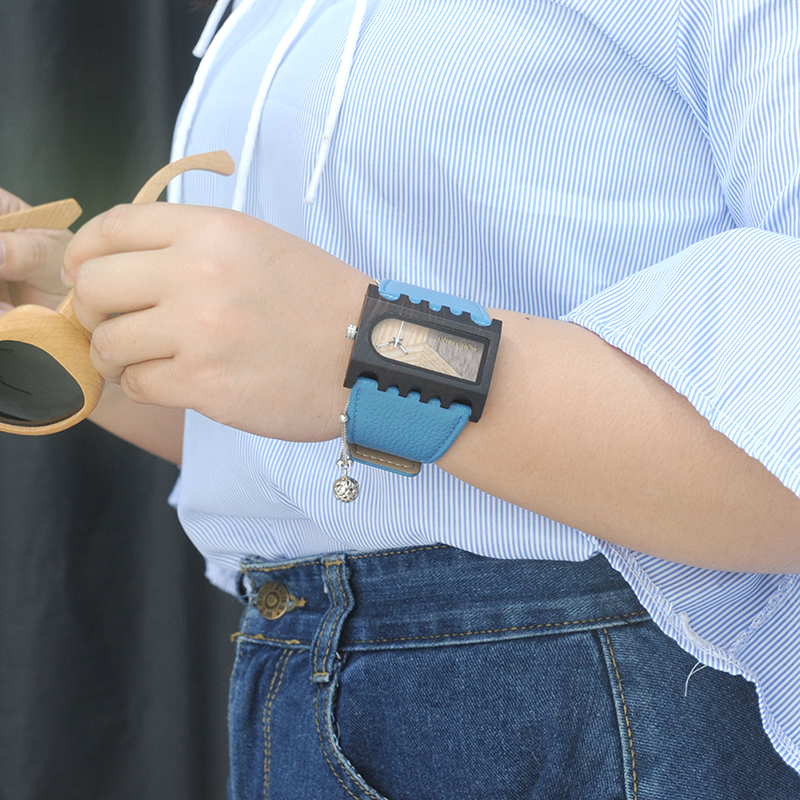 BOBO BIRD New Designer Wooden Watches Women with PU Leather Strap Quartz Watch (62)