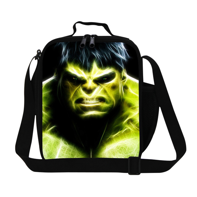 Fashion Strong Thermal Lunch Bag For Kids Personalized Lunch Bags For Boy Cartoon Lunch Box Hulk Snacks Food Bag For Children