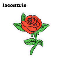 Vintage rose patches for clothing iron on patches diy embroidery patch applique parches ropa fashion stickers for clothes 5pcs