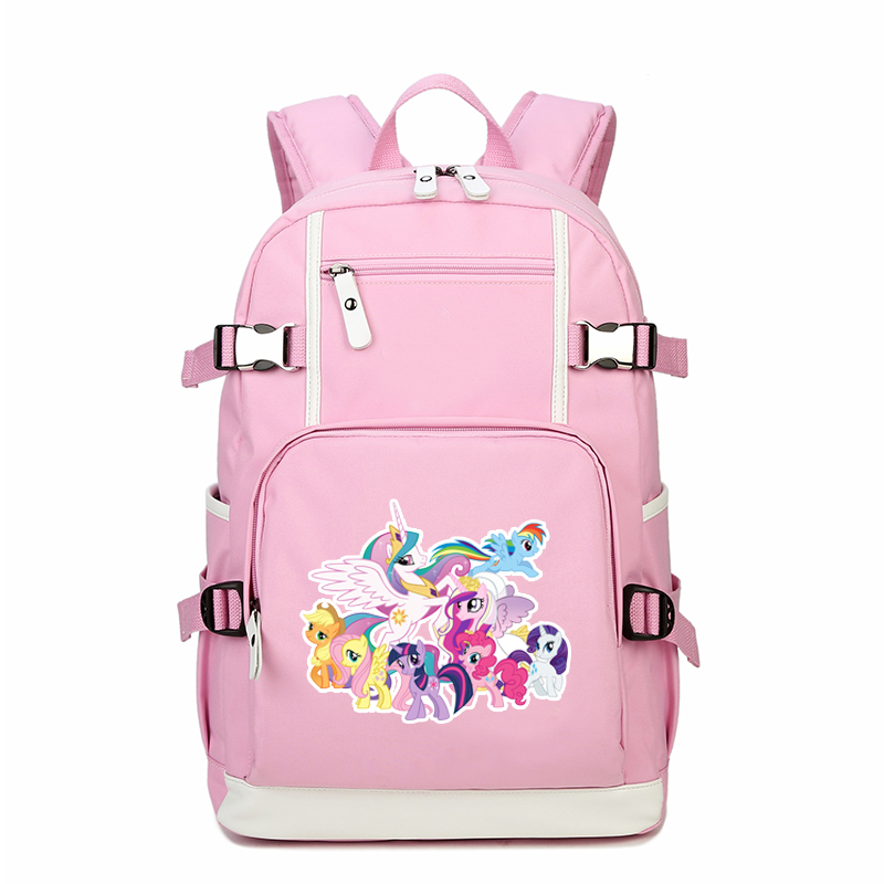 9ce1fc8495ee High Quality 2018 New Unicornio Printing Backpack Rainbow Unicorn Backpack  Canvas Shool Bags Kawaii Women Bags