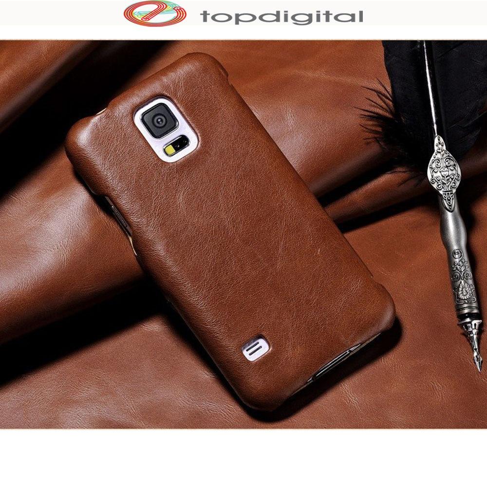 buy popular 7cc90 53503 US $18.46 |icarer Genuine Leather Case for Samsung Galaxy S5 SM G900 Flip  Case Cover S5 Wallet Card Slots Protective Vintage Phone Bag-in Flip Cases  ...