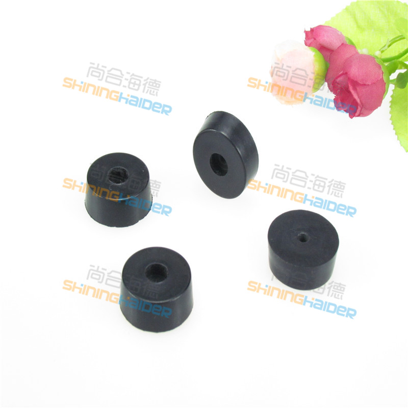 Free shipping 100PCS small black round rubber foot without gasket ...
