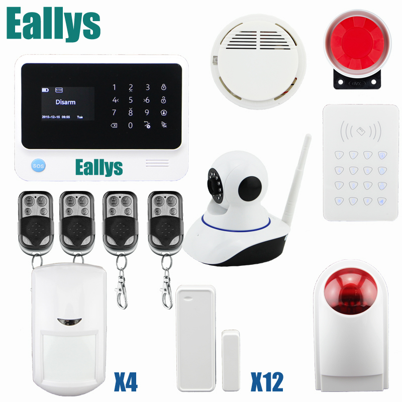 2016 2.4G WiFi GSM GPRS SMS Wireless Home Security Intruder Alarm System with HD 720P Wifi IP Camera Smoke Detector arduino atmega328p gboard 800 direct factory gsm gprs sim800 quad band development board 7v 23v with gsm gprs bt module