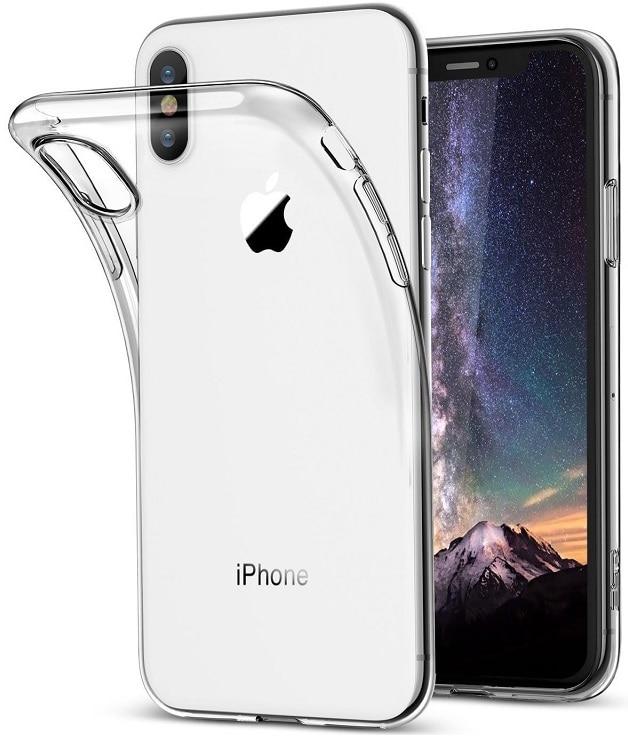 100PCS TPU Transparent Phone Case For iPhone X XR Xs Max High Bright Ultra Thin Soft