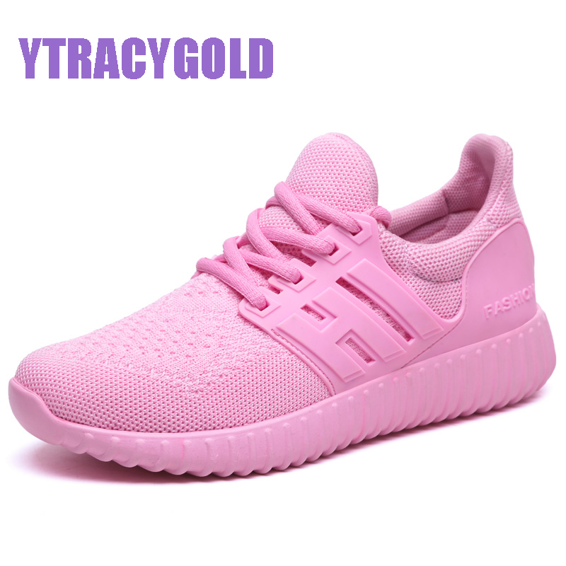YTRACYGOLD Women's Shoes Breathable Trainers Woman Lace-up Shoes Casual Shoes Women Flats Zapatillas Mujer 2017 New Fashion flat hot sale new 2017 fashion flats women breathable sport woman shoes casual outdoor walking women flats zapatillas mujer