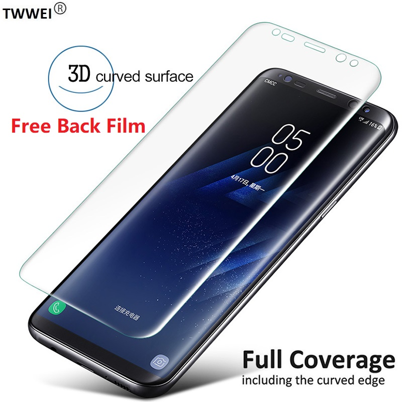 3D Protective Film on the for Samsung Galaxy S9 S8 Plus S6 S7 Edge Note 9 8 S10e S10 Plus Screen Protector Film Foil (Not Glass) image
