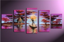 Hand-painted wall Africa the