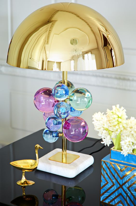 Modern creative model room round Table Lamps Luxor Hotel model room designer crystal lamp LU725226|round table lamp|design table lamp|table lamp - title=