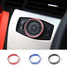 SHINEKA font b Car b font Styling Headlight Switch Cover Trim Aluminium Alloy for Ford Mustang