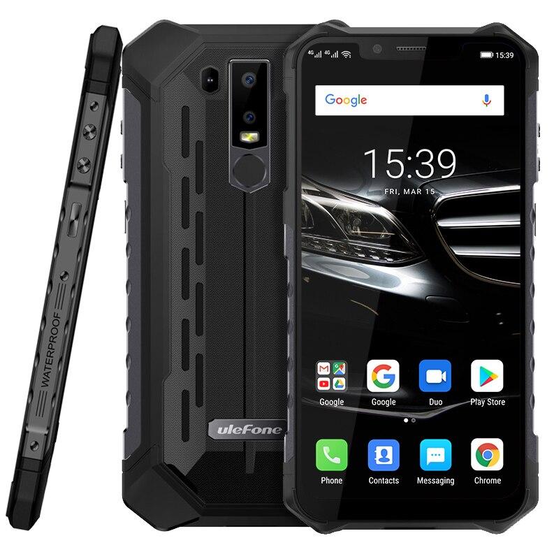 IP68 Ulefone Armor 6E Android 9.0 Helio P70 Octa Core Mobile Phone 4GB 64GB 6.2'' Dual SIM Wireless Charging OTG NFC Smartphone