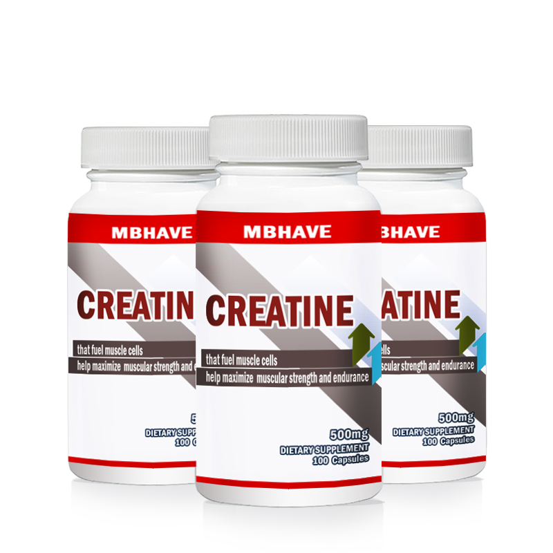 2019 Hot 3 Bottles 300pcs PURE CREATINE MONOHYDRATE For Hectic Sports