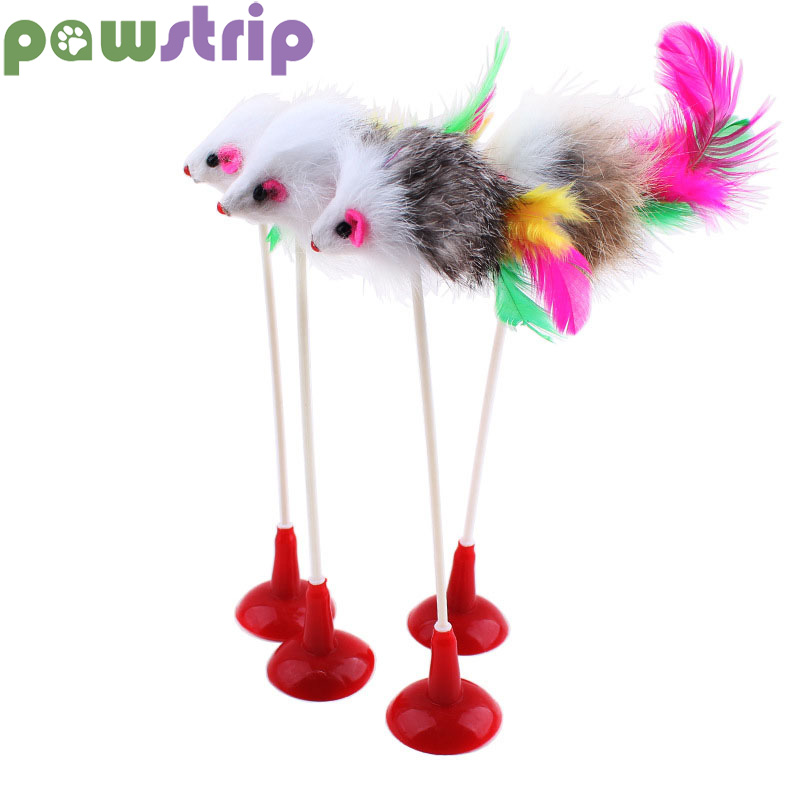 pawstrip 1pc 20cm Height False Mouse Cat Toy Interactive Sucker Bottom Toy For Cats Kitten