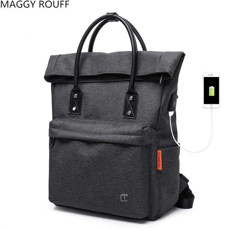 2018 Multi-function USB Charging Backpack Men's 15.6 Inch Laptop Backpack Teen Fashion Men Backpack Leisure School Backpack fashion hiking leisure men backpack
