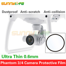 Camera Glass Film Ultra Thin Protective Film Dustproof Anti-scratch for DJI Phantom 3/4