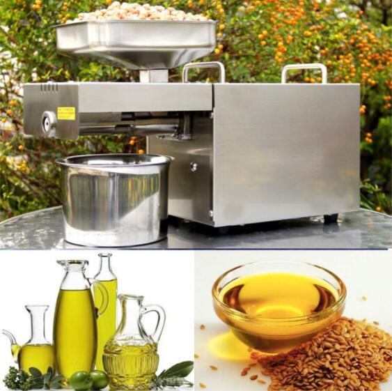 SALE!!! NEW Automatic Stainless Steel Small Home Oil Press Machine Cold Hot press for peanut,coconut household oil press machine cold hot press for peanut small home automatic mini seed oil extraction machine eu stock