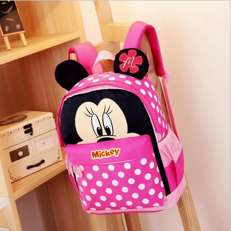 2018 Hot Sale Kids Cartoon Kindergarten Backpack Kid School Bags For Boys And Girls Mickey Children Backpacks For 3-6 Years Baby