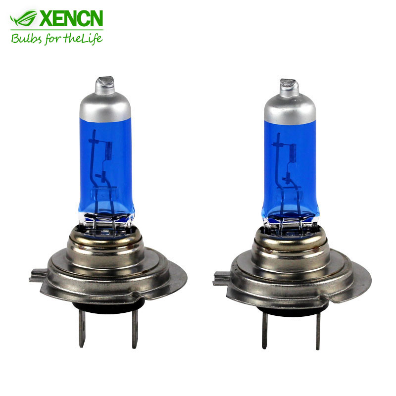 XENCN 12V H1 H3 H4 H7 5300K Blue Diamond Light Super Xenon White Car Headlight High Power Halogen Head Bulbs Fog Lamps 2pcs