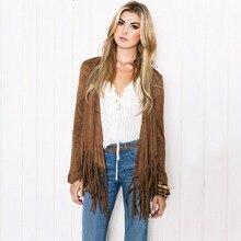 Women's Casual Long Sleeve Tassel Cardigan Sweater Jacket Coat Outwear Spring