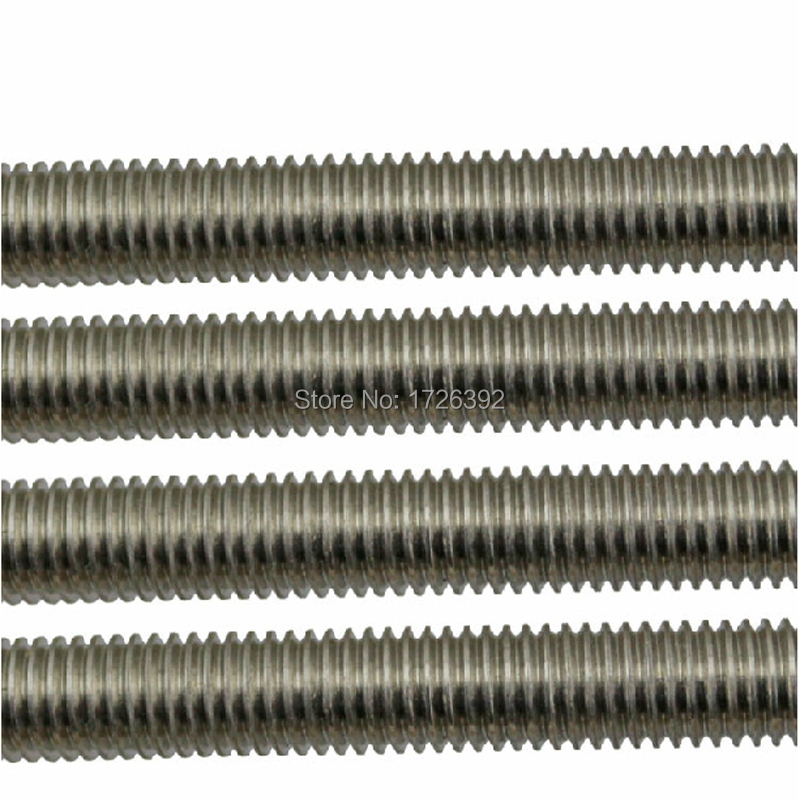 STAINLESS STEEL M4 THREADED BAR STUDDING ROD NUTS 300mm