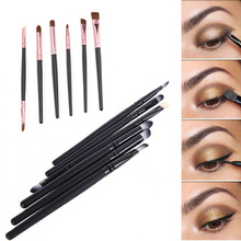 6 PCS Professional Makeup Cosmetics Brushes Eye Shadows Eyeliner Nose Smudge Brush Tools Set Kit for eye makeup brushes