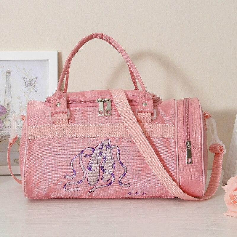 Gym Bags Woman Ballet Dance Cosmetic Backpacks Shoulder Handbags Sports Pink Girls Rucksack Waterproof Embroidery Back Pack