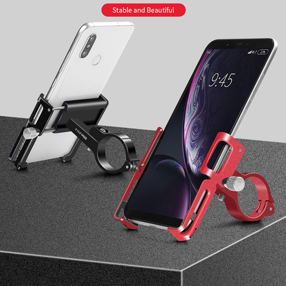 Bicycle Mobile Phone Holder Aluminum Alloy Four-claw Four-claw Design Stand For Xiaomi Mijia M365 Electric Scooter Accessories