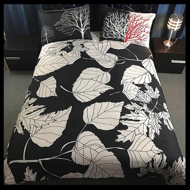 Kids Bedding Set Dinosaur Elk Leaf Black White Reactive Printing Twin Queen Bed Sets Comforter Cover