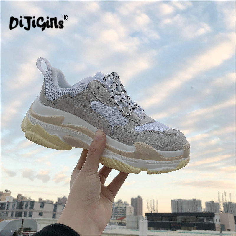 New Autumn Fashion Women Casual Shoes Suede Leather Platform Shoes Sneakers Ladies White Trainers Chaussure Femme Drop Shipping