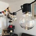 Varal led de 6m com 20 luzes de natal, varal led, para decoração, para casamento, à prova d' água, para festa, para jardim, para áreas externas