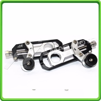 Motorcycle Chain Tensioner Adjuster with spool fit for Honda CBR600RR 2011 2012 2013 2014 2015 2016 CBR 600 RR Black & Silver
