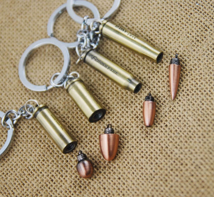 Personality Creative Bullet Pendant Keyring Keychain Warhead Can Twist Open New Style Zinc Alloy Women Men Jewelry Holiday Gift