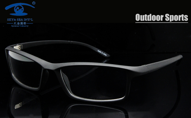 b3d8d02da81 New Outdoor TR90 Flexible Eyeglasses Frames Man Prescription Sport Goggles  Clear Lens 6 Base Sports Glasses