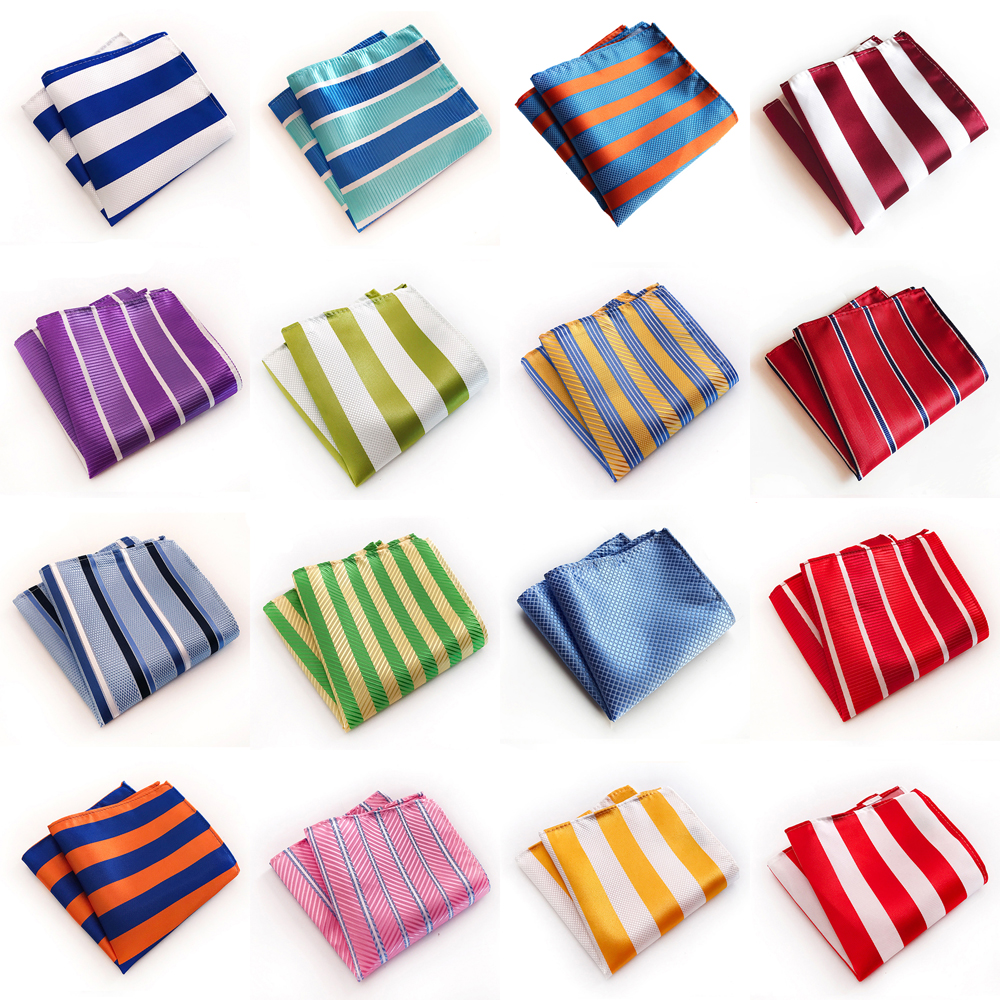 Men's Tuxedo Striped Check Pocket Square Hanky Wedding Gentlemen Handkerchief HZTIE0321