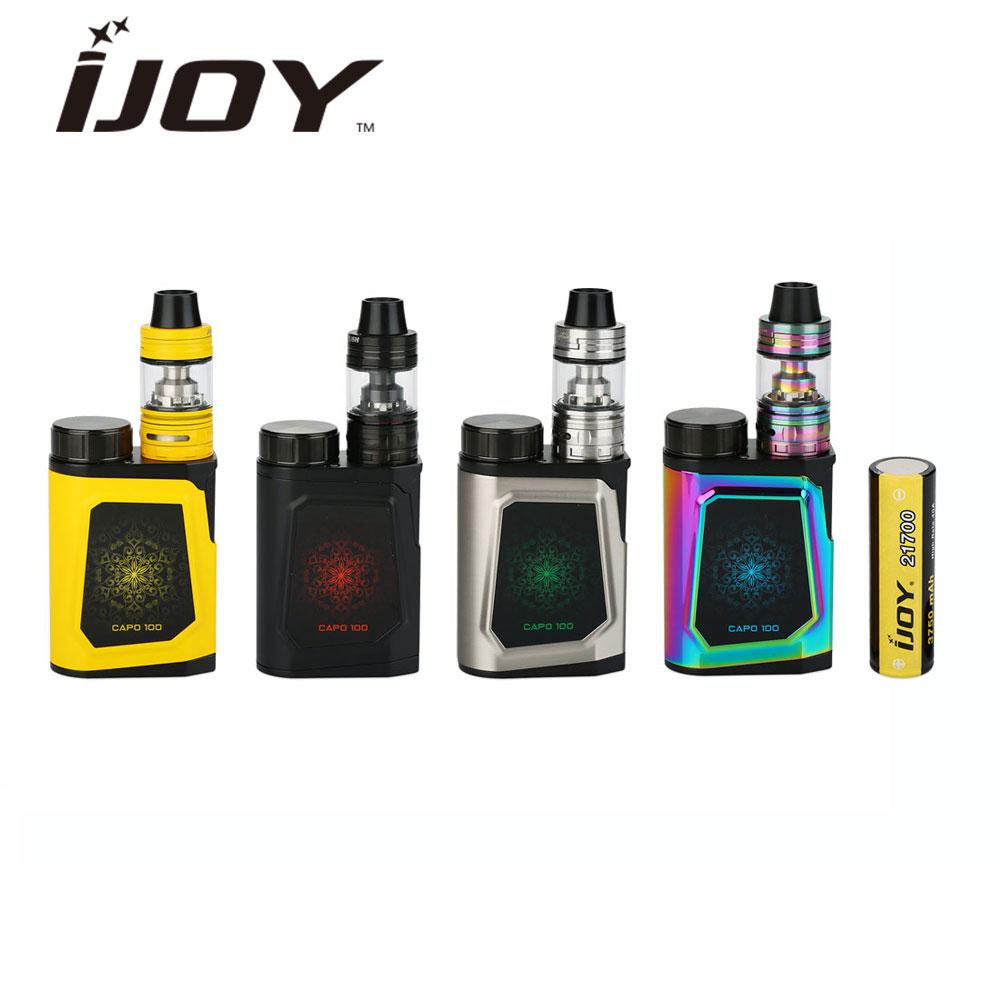 Originale 100 W IJOY CAPO 100 con 3.2 ml Capitano Mini TC Kit con Batteria 3750 mAh Max 100 W uscita Vape Box Mod Vs Istick Pico