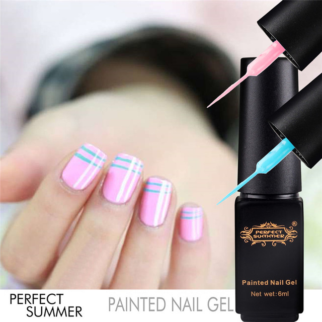 good perfect summer pintado que puntea dibujo manicura de uas de gel uv soak off gel barniz with dibujos uas de gel - Dibujos Uas