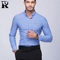 2017 AR Brand Men's Shirt Dress Men Plus Size Long Sleeve Male Business Casual Shirts Homme Slim Fit Office Man's Dress Shirt