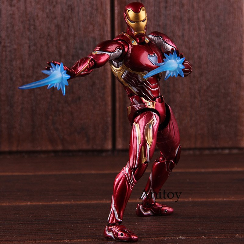 Figuarts SHF Marvel Avengers Infinity War Iron Man MK 50 Ironman Action Figure PVC Collectible Model Toy image