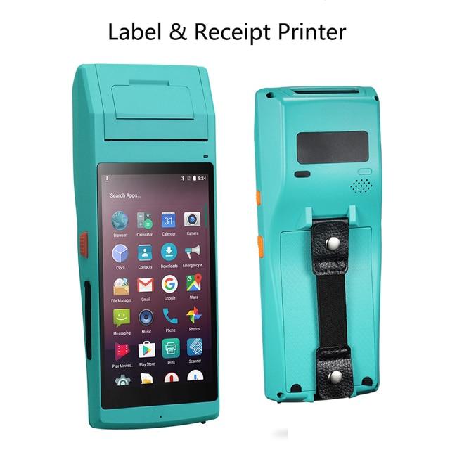 Issyzonepos Thermische Label Bonprinter 58 Mm Handheld Pda Nfc Psam Bluetooth Wifi Pos Printer 2D Barcode Data Terminal