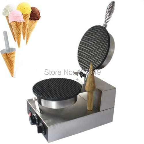 Hot Sale 110v 220V Commercial Use Non-stick Electric Ice Cream Cone Waffle Baker Machine Maker Iron commercial non stick 110v 220v electric ice cream fish waffle taiyaki iron maker baker machine
