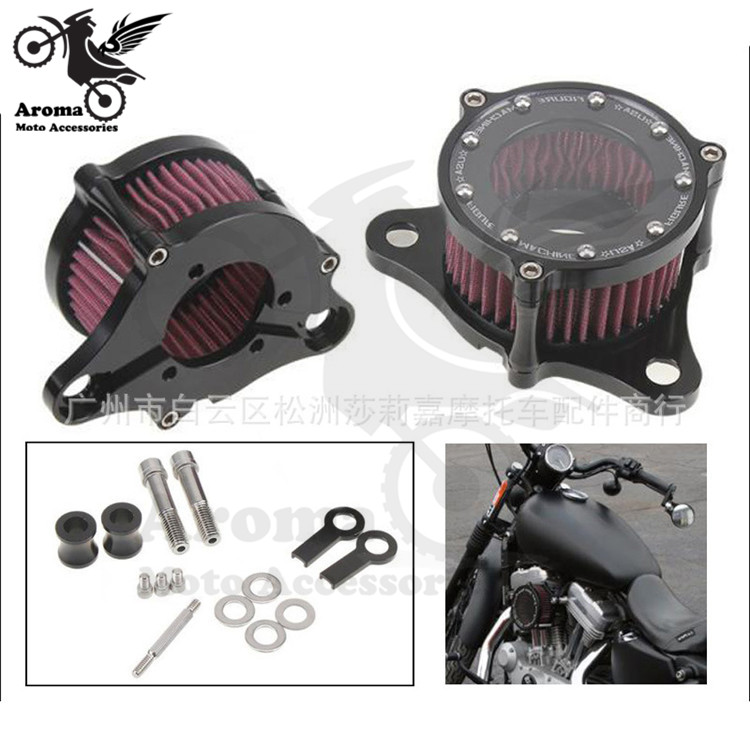 top quality metal professiona motorbike air system moto air filter cleaner for harley Sportster XL883 1200 motorcycle air filter