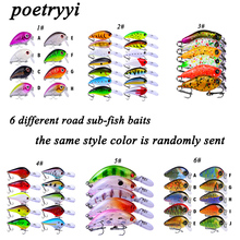 Poetryyi 6 different styles commonly used sea fishing lure wobblers isca artificial pesca equipment ocean 30