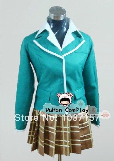 New Free Shipping Rosario Vampire Moka Akashiya font b Cosplay b font Costume Uniform