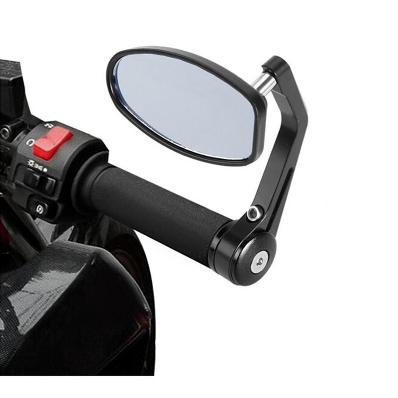 Universal Handlebar Aluminum Alloy Motocycle Rearview Mirrors Moto End Motor Side Mirrors Accessories